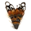Feather Pad Pheasant 12x7cm V-shape Red/black/natural